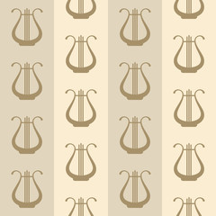 seamless vintage background with harps