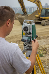 Land surveyor working 2