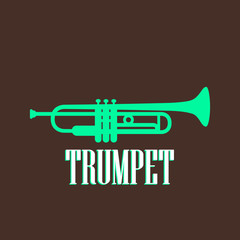 vintage illustration with the trumpet