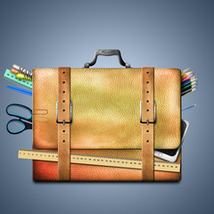 School supplies, briefcase