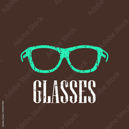 vintage illustration with eyeglasses