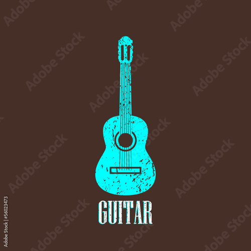 vintage illustration with the guitar