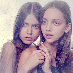 winter close-up portrait