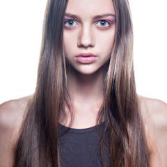 sexy brunet beauty portrait