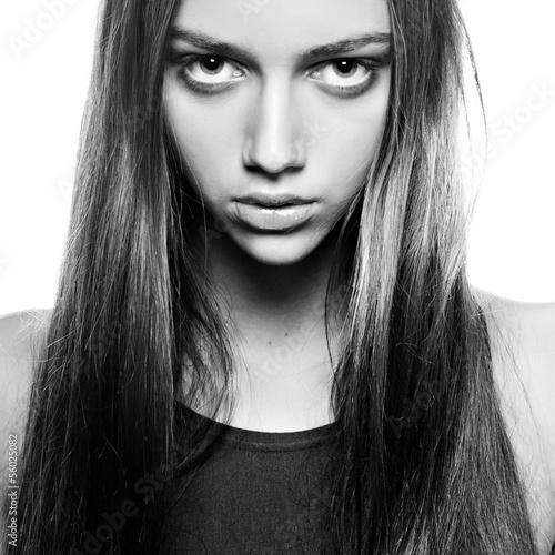 sexy brunet beauty portrait - 56025082