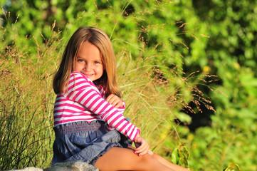 cute girl having fun outside