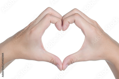 hand sign posture love icon isolated