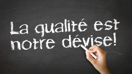 We Focus On Quality (In French)