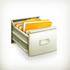 Open card catalog icon