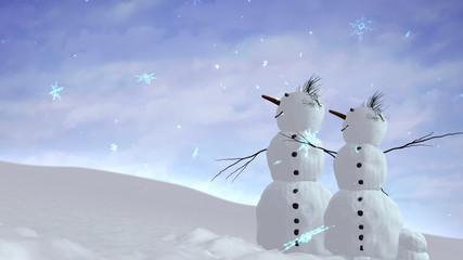 snowmen sky