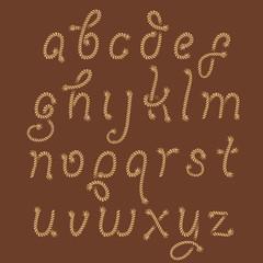 Sea rope decorative alphabet