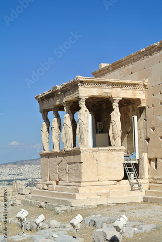 Caryatid Porch of Erechtheum at Acropolis - Athens, Greece