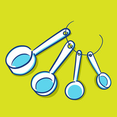 Measuring Spoon - Blue Series