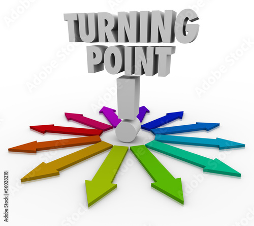 Turning Point Colorful Arrows Important Paths