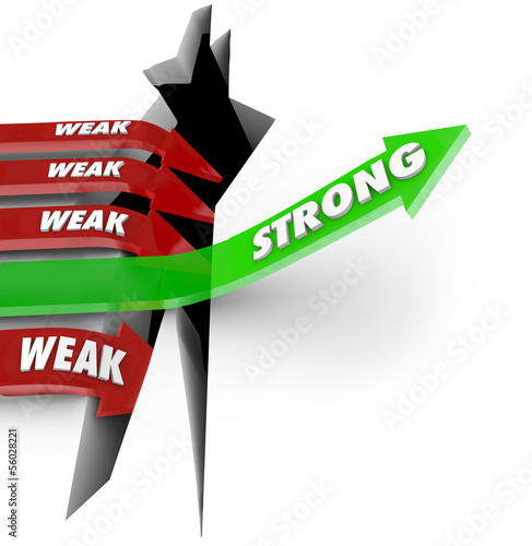 One Strong Arrow Rises Vs Weak Arrows Falling Success Failure