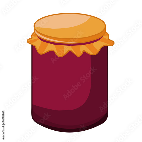 glass jar isolated illustration