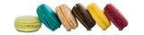 Traditional french colorful macaroons isolated background