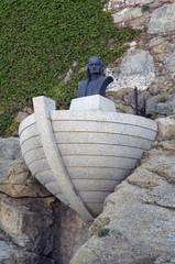 Calvi,Corsica-Columbus statue