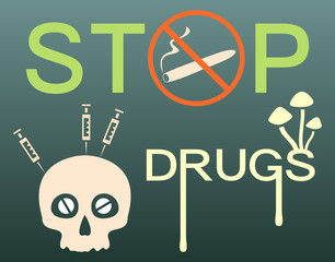 Stop drugs banner