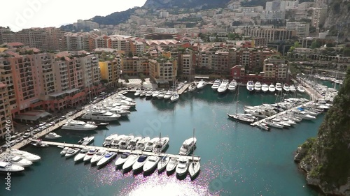 Monaco - View of the Fontvielle harbour