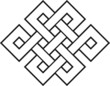 Endlos Knoten, 2c,  Glückssymbol, Buddhismus, Tibet