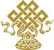 Tibetanischer Endlos Knoten, Lotus Schale - Glückssymbol