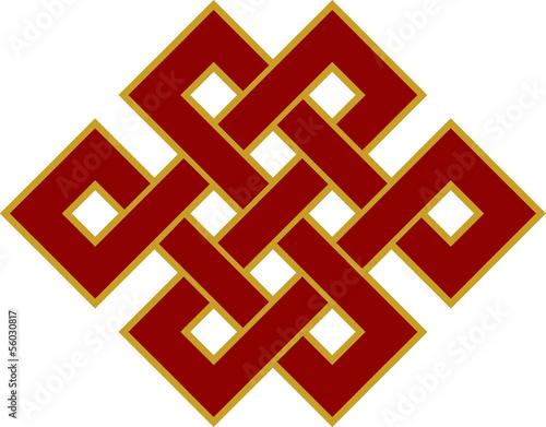 Tibetanischer Endlos Knoten - Glückssymbol