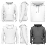 Men's hoodie design template