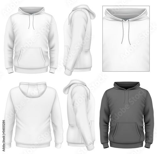 Men's hoodie design template - 56031284
