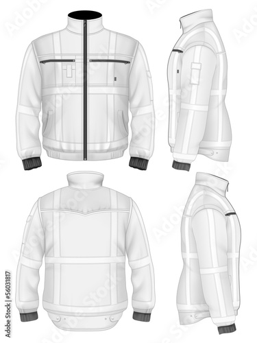 Men's reflective safety jacket