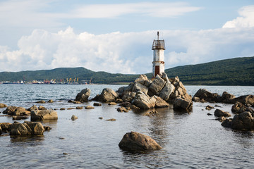 Lighthouse on the eastern coast of Russia.