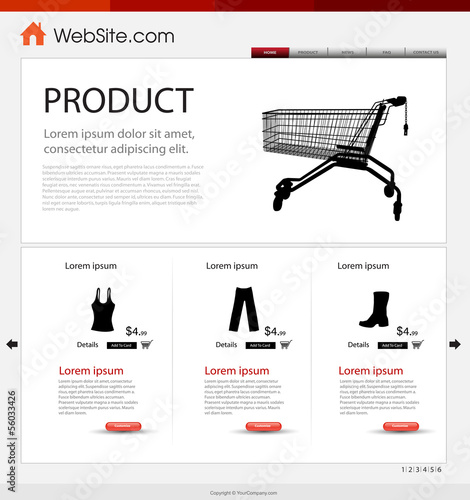 Shop website template