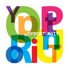 Vector Opportunity. Broken text