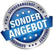 """Button Banner """"Sonderangebot"""" blau/silber"""
