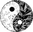 Black and white TAO symbol