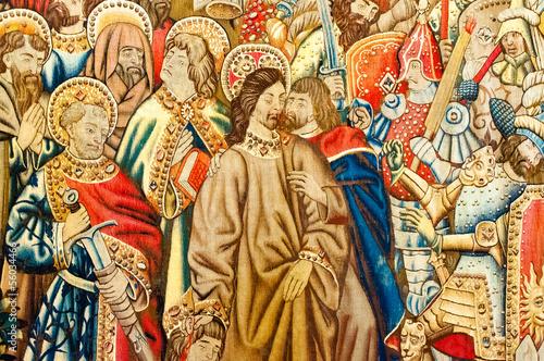 Leinwandbild Motiv Raphael`s draft tapestry (Cappella Sistina)