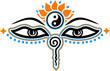 Buddha Augen, 3c, Symbol Weisheit & Erleuchtung