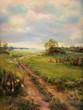 canvas print picture - landschaft gemälde alt