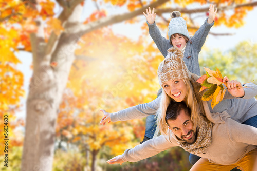 happy family in autumn