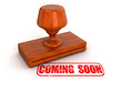 Rubber Stamp Coming soon (clipping path included)