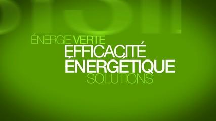 Efficacité énergétique efficience énergie verte nuage de mots