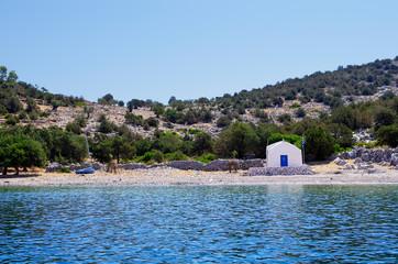 Small chapel in Dokos island, Greece
