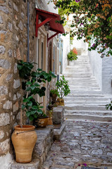 Street in Hydra island, Greece