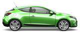 GREEN CAR - side view