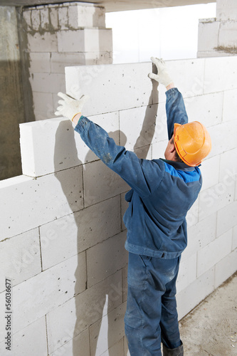 Builder mason worker bricklayer