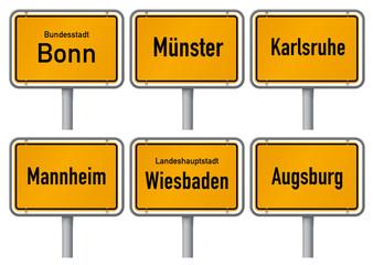 Ortsschilder großer Städte in Deutschland 4