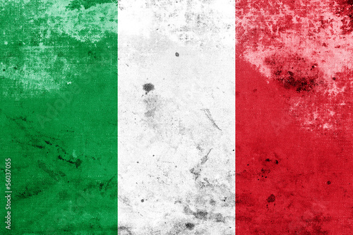 Grunge Italy Flag