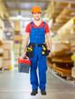 Handyman with tools full portrait
