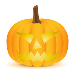 Halloween Pumpkin isolated on white