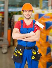 Portrait of  handyman at warehouse